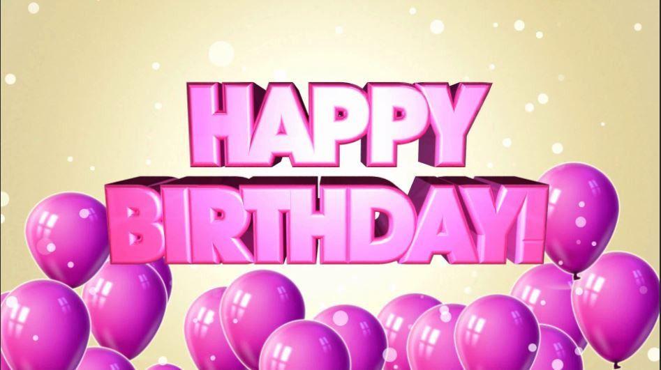 نتيجة بحث الصور عن happy bday wishes in pink Happy