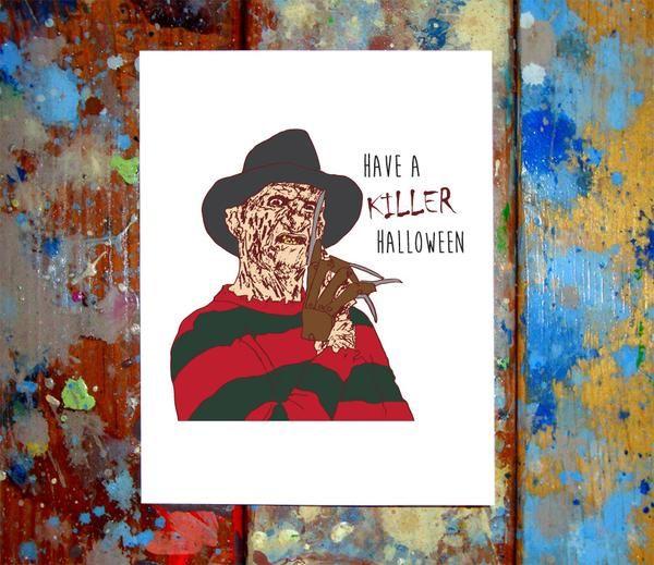 Freddy Krueger Happy Halloween Card Freddy krueger and Happy halloween