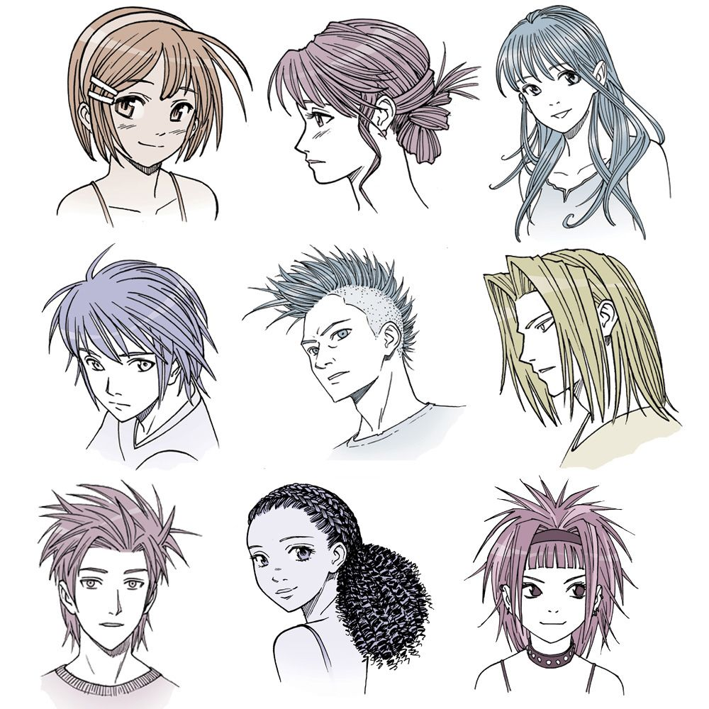 Let Mark Crilley Teach You The Art Of Drawing Anime Hair With Instruction From His Book Mastering Manga 2 Anime Drawings Anime Hair