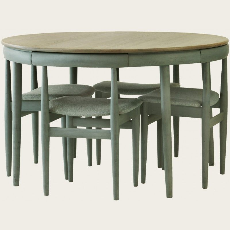 Round Table With Four Chairs Furniture Mid Century Modern - Round dining table with four chairs