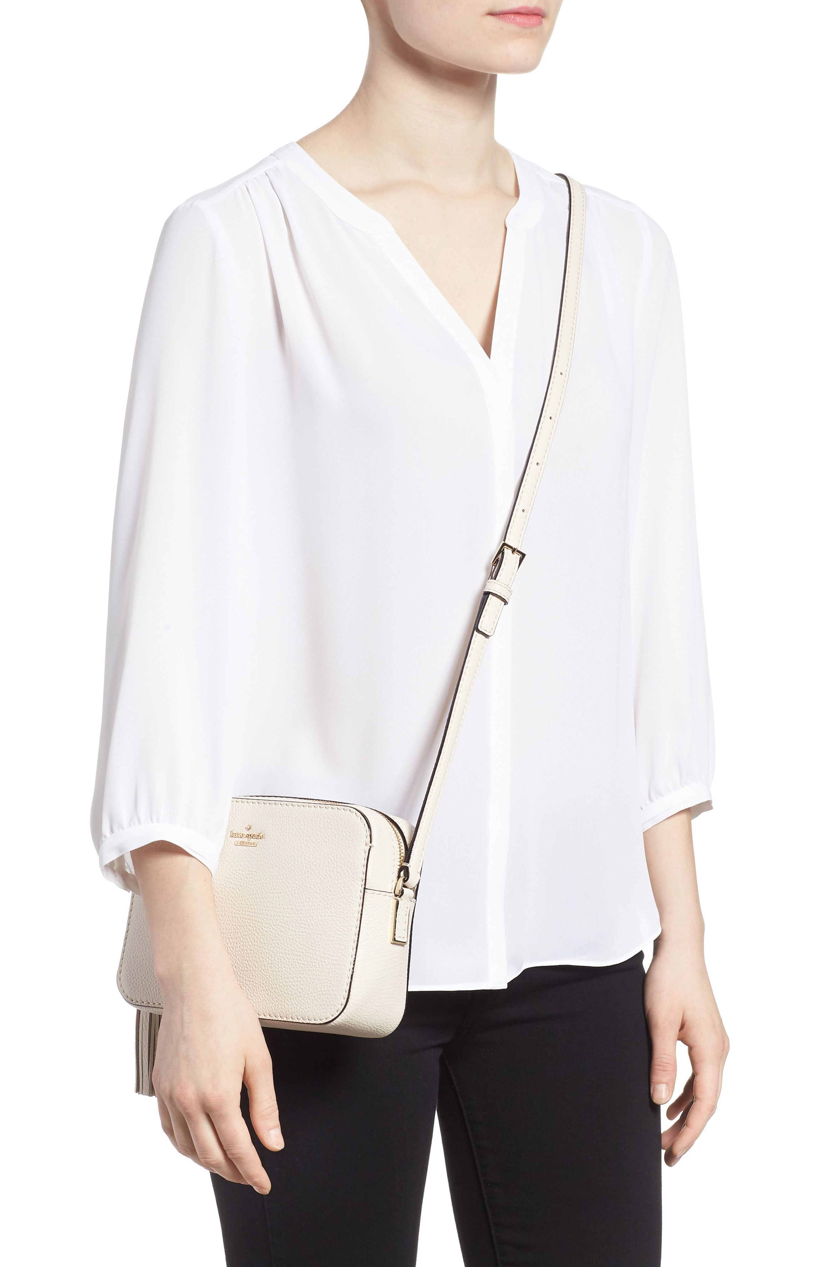 0d5bfb5c10bf KATE SPADE Kingston Drive - Arla Leather Crossbody Bag - White ...