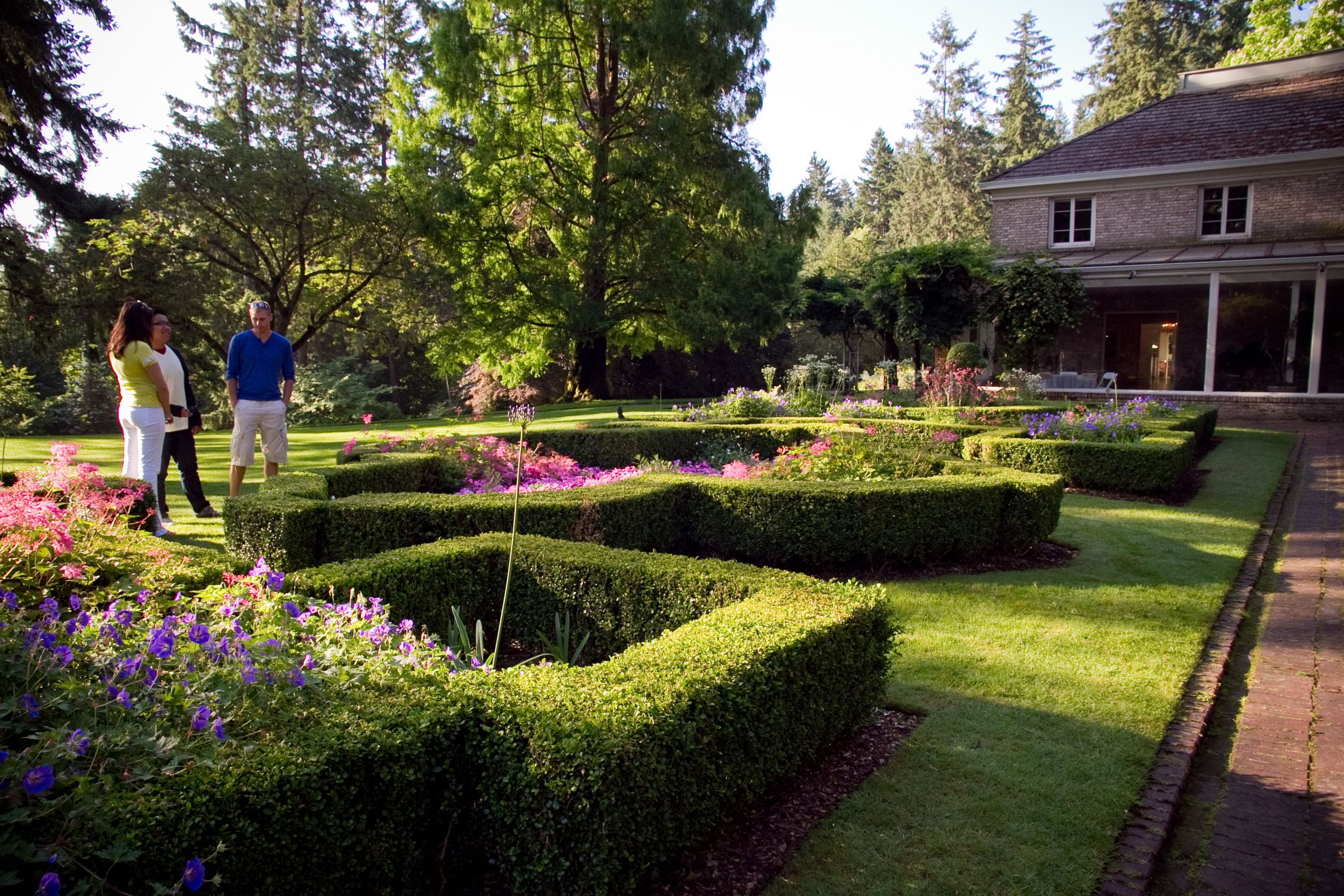Embracing the long afternoon shadows at Lakewold Gardens in Lakewood, WA