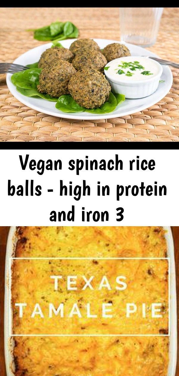 Vegan spinach rice balls high in protein and iron 3 in