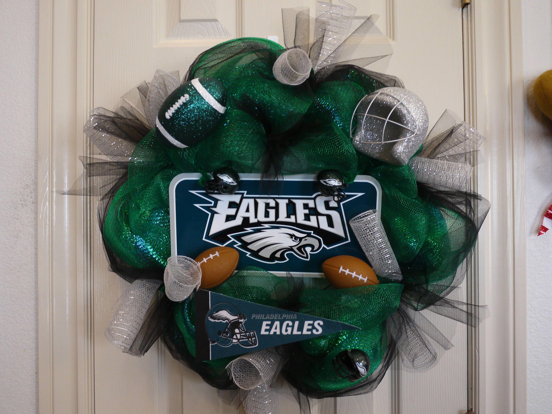 Philadelphia Eagles Wreath, Eagles Decor, Eagles Fans, NFL