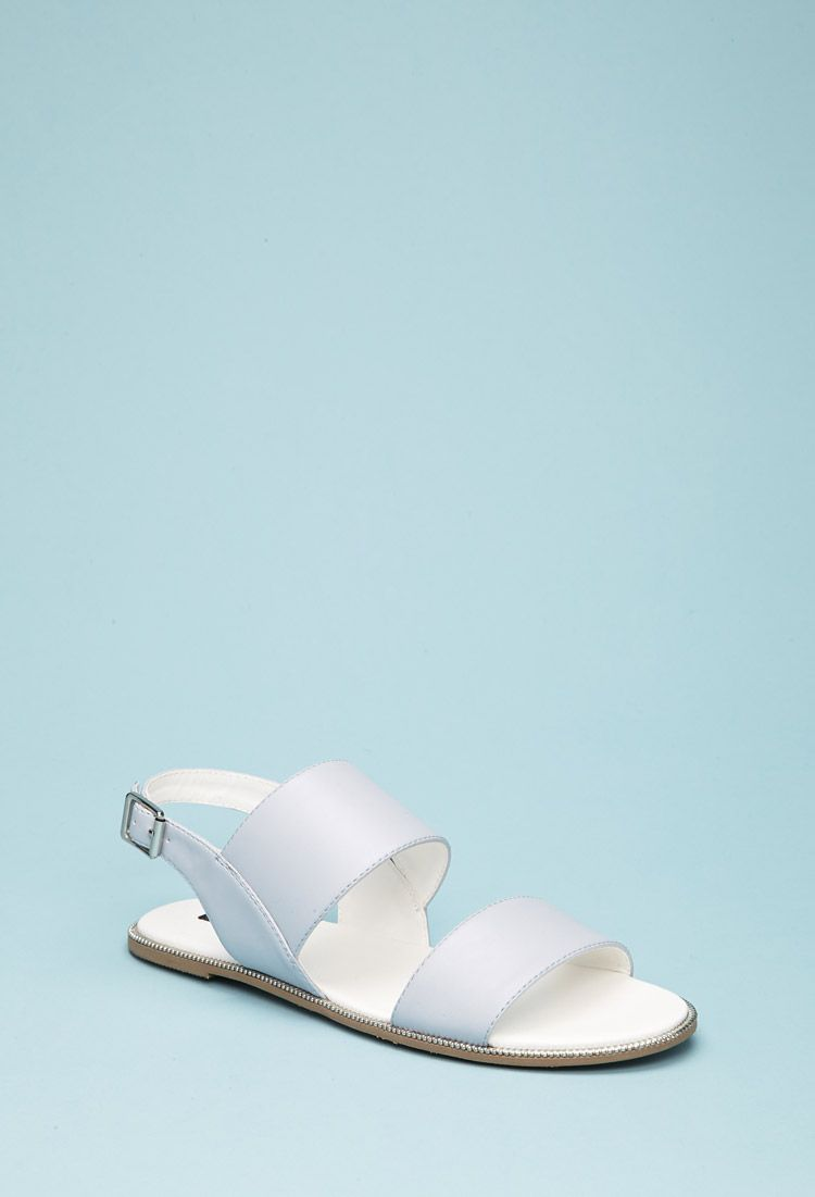 2947391a3fd Faux Leather Slingback Sandals