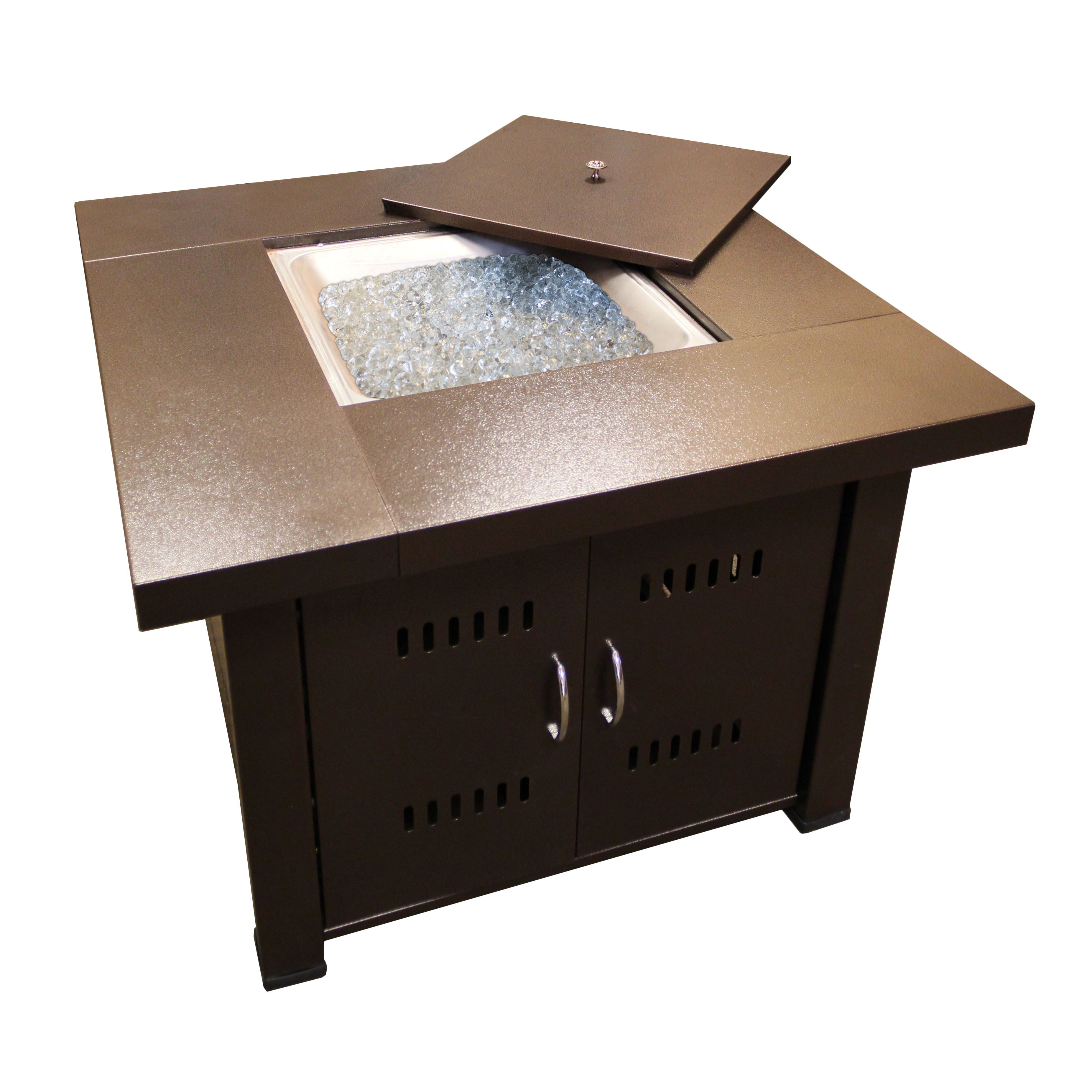 "Wayfair Hiland Gas Fire Pit: 38"" square, on clearance for $240 