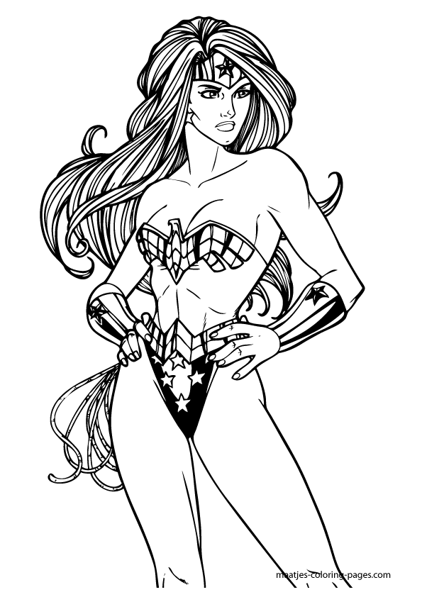 Wonder Woman Coloring Pages - Get Coloring Pages | 842x595
