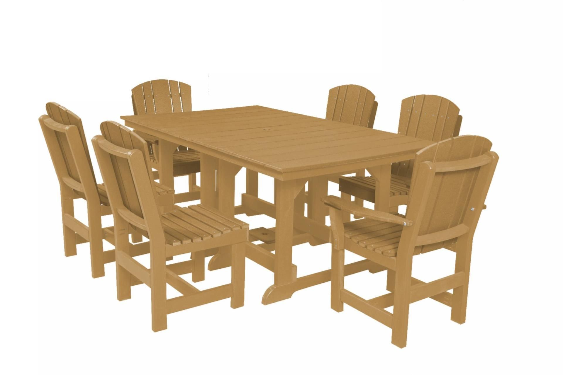 Ecopoly 44 X 72 Dining Table With 6 Dining Chairs Outdoor