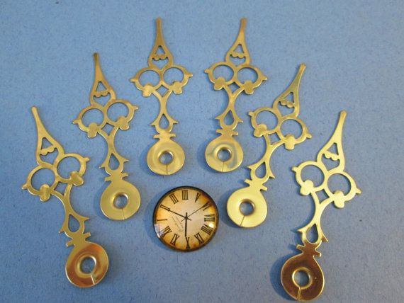 6 Vintage Serpentine/Gothic Style Clock Hands  by SallysClockHands