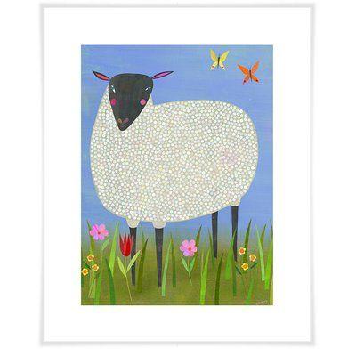 """Harriet Bee Latoria Sheep Paper Print Size: 12.5"""" H x 10.5"""" W x 0.02"""" D"""