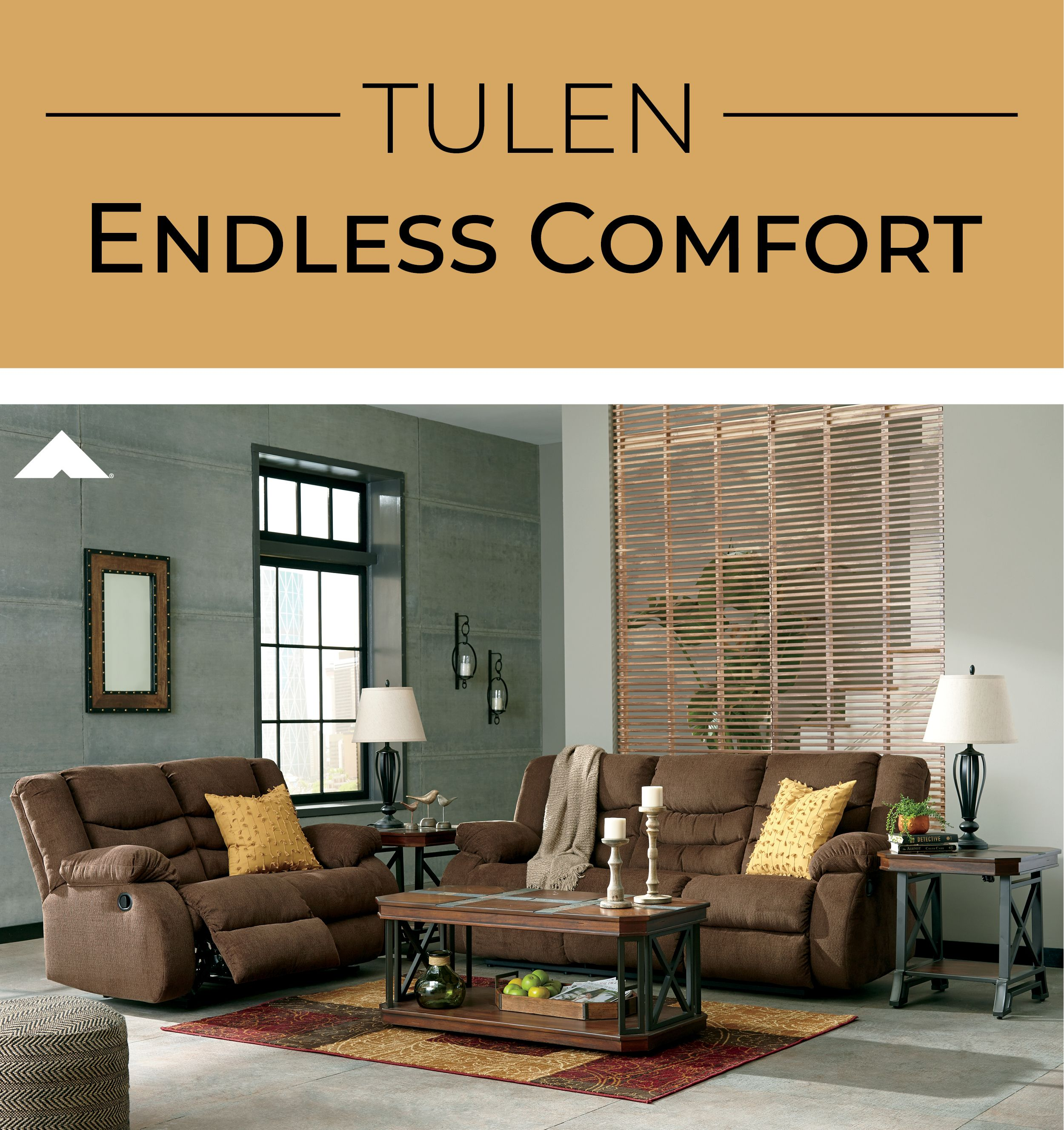 Tulen Chocolate Reclining Loveseat And Sofa By Ashley Furniture -
