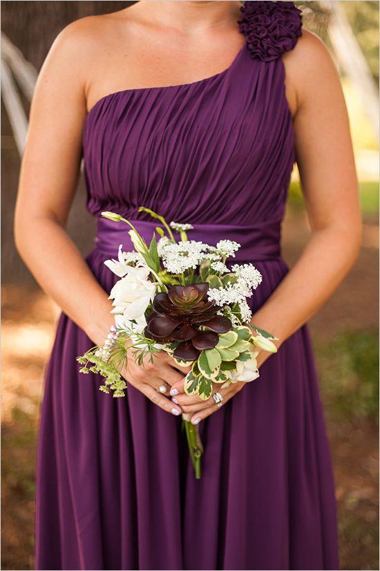 Elegant 1920 S Mansion Wedding Purple Bridesmaid Dresses