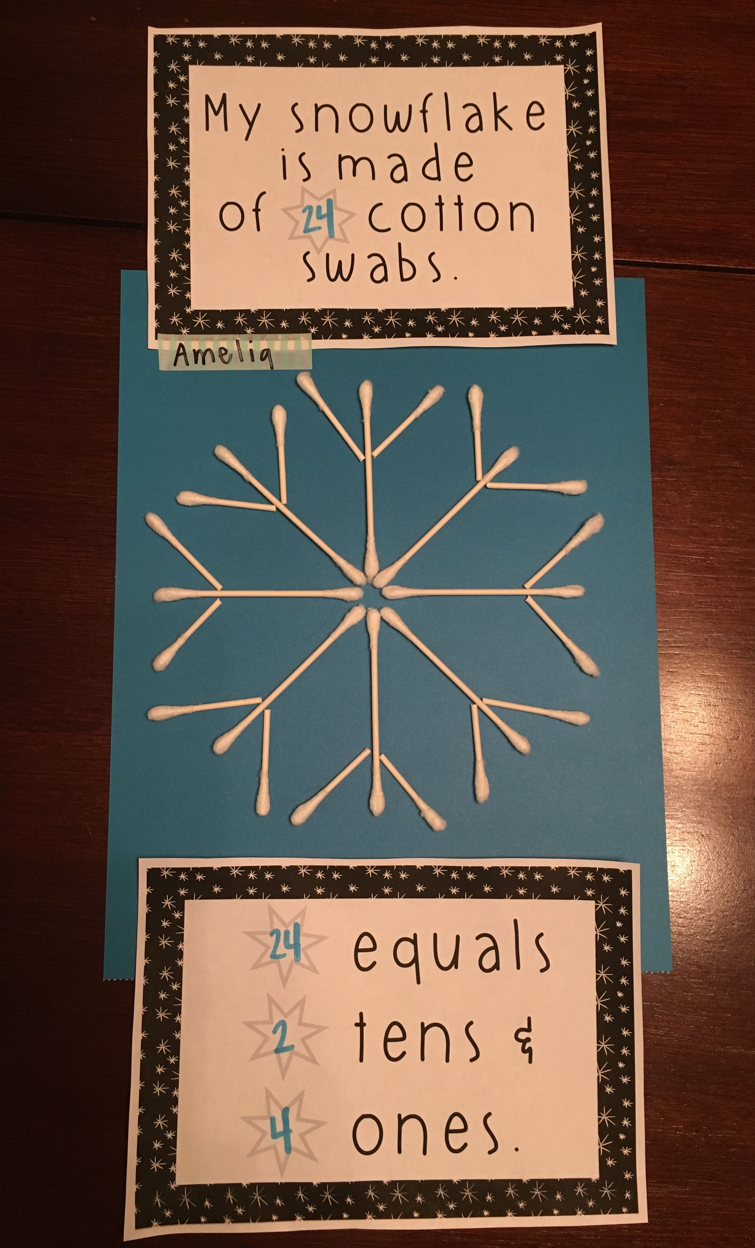 First Grade Place Value Craft Activity Winter Themed