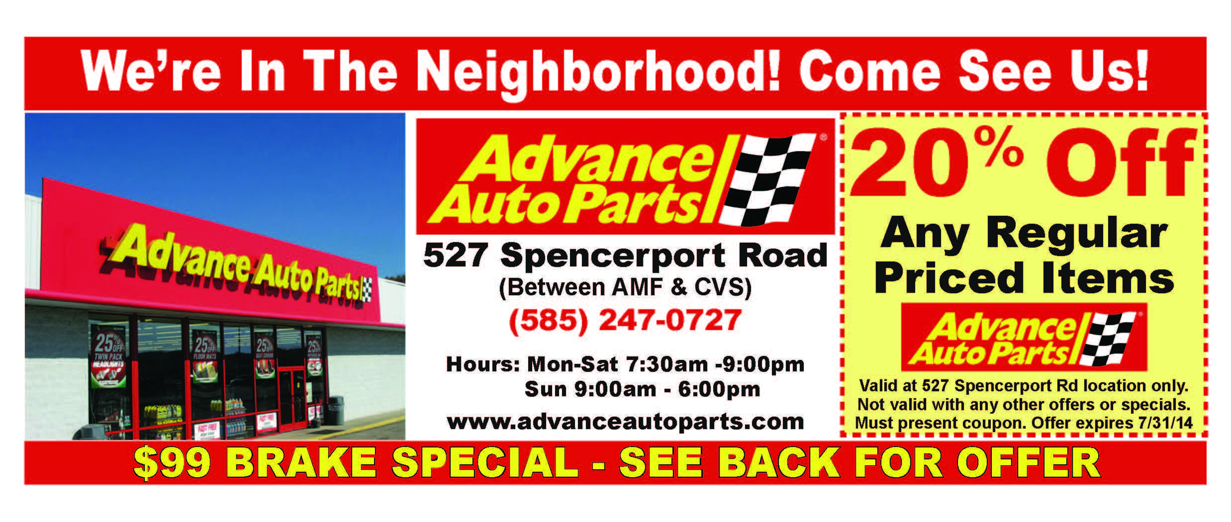 Advance Auto Parts Spencerport Coupons Spencerport The Neighbourhood Auto