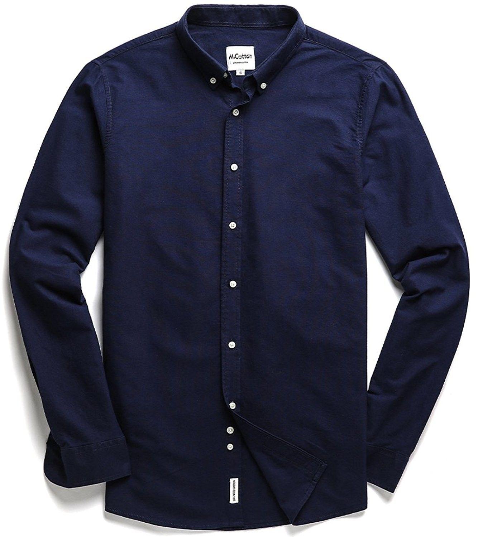 Men S Oxford Long Sleeve Button Down Casual Dress Shirt Navy Blue Cp184qqu407 Shirt Dress Casual Custom Dress Shirts Casual Shirts For Men [ 1500 x 1334 Pixel ]