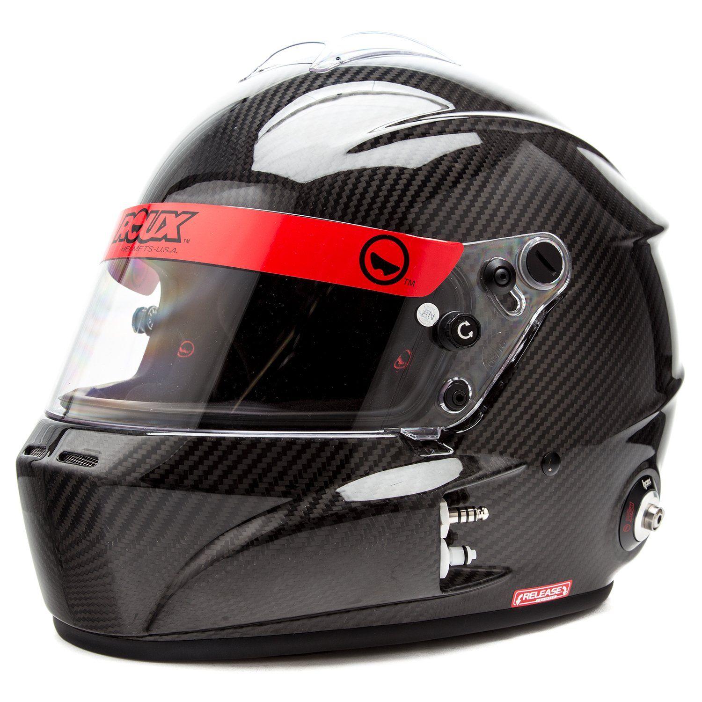 Roux R 1cf Gloss Carbon Auto Racing Helmet Helm