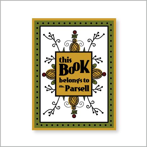 Good Look Cookbook | DIY Graphic Design Recipes: Retro Custom Book Plates for Teacher