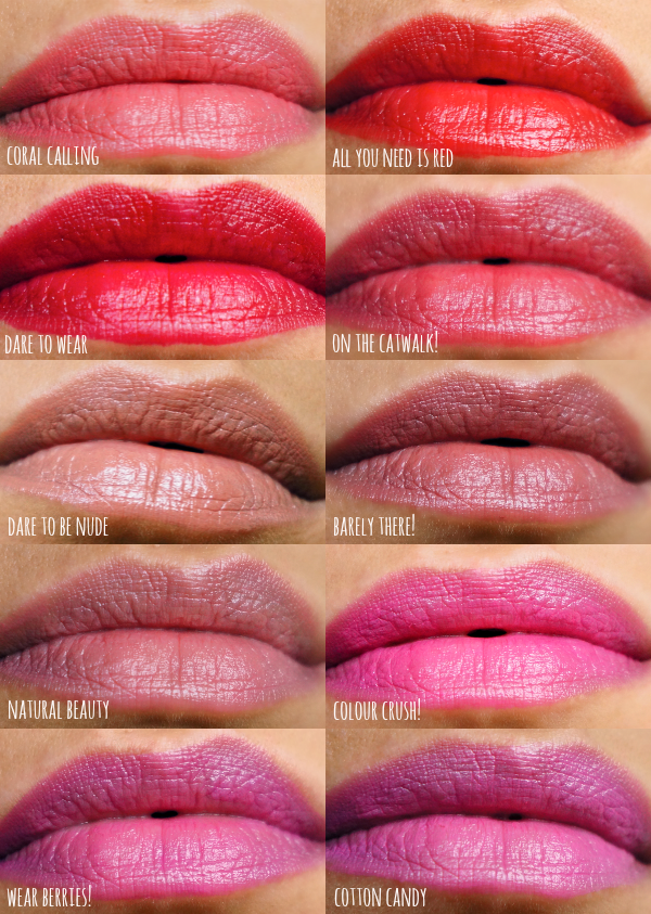 essence long lasting lipstick lip swatches | lips | Pinterest ...