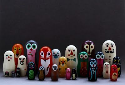 Wooden dolls by Ingela P Arrhenius