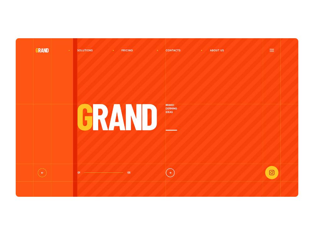 Grand Graphic Design By Mike Creative Mints On Dribbble In 2020 Portfolio Design Site Design Graphic Design