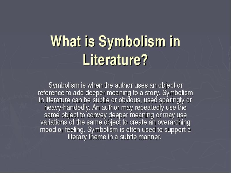 an introduction to the symbolism in literature An allegory is a literary device used to tell stories on two levels: go to introduction to analyzing and interpreting literature ch 2 symbolism & imagery in literature: definitions & examples 7:03.