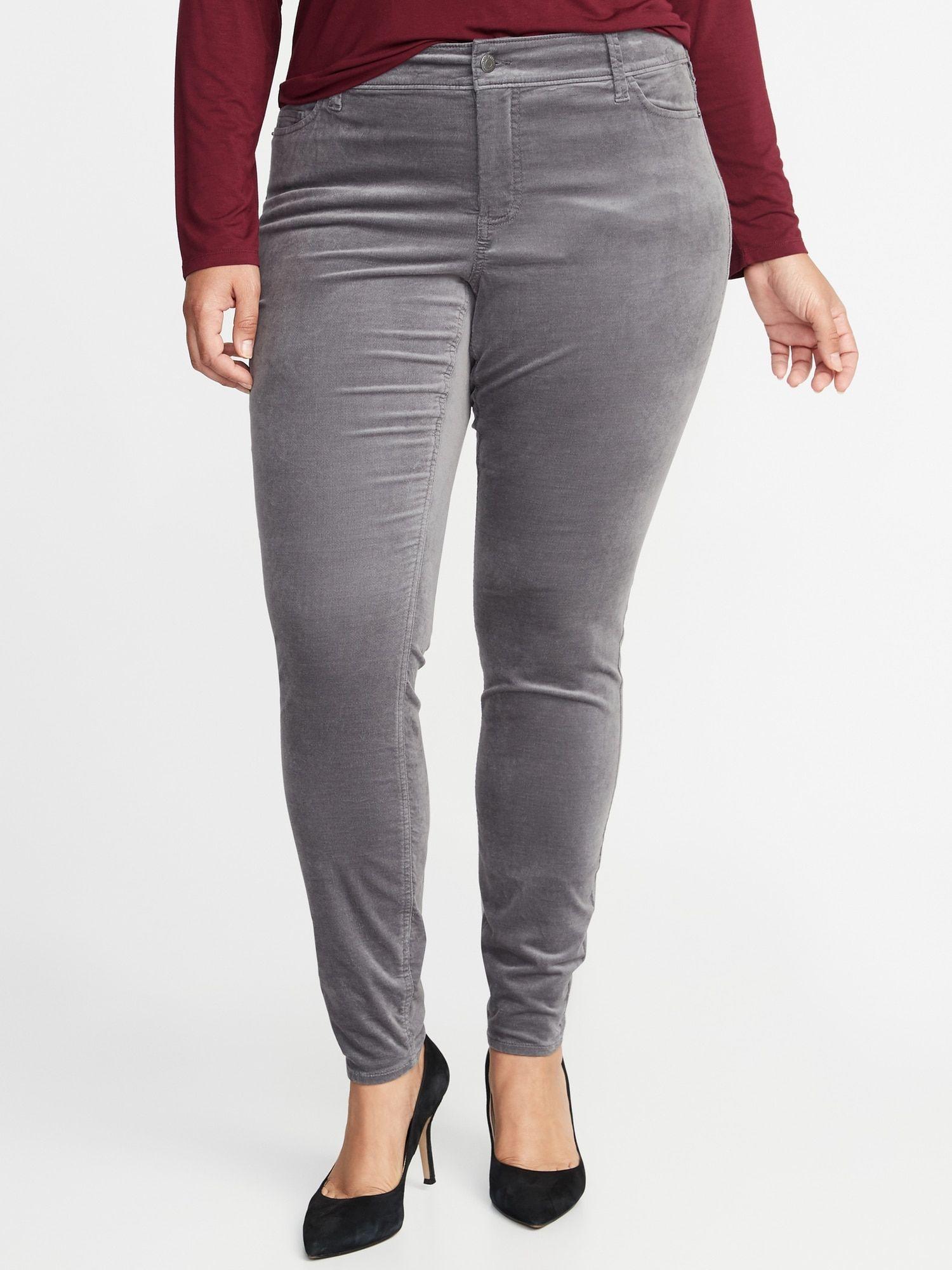 e5e7d0a8d1b High-Rise Secret-Slim Pockets Plus-Size Rockstar Velvet Pants | Old Navy