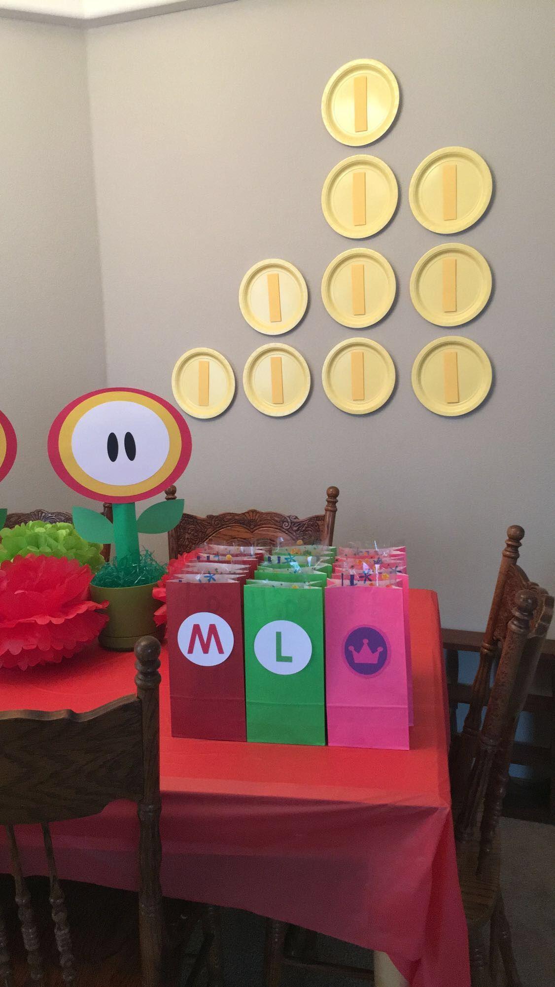 Mario favor bags sonic birthday parties mario birthday