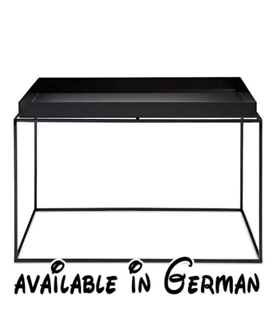 B00fzjlba4 Tray Table Beistelltisch Schwarz Large 60 X 60 Cm