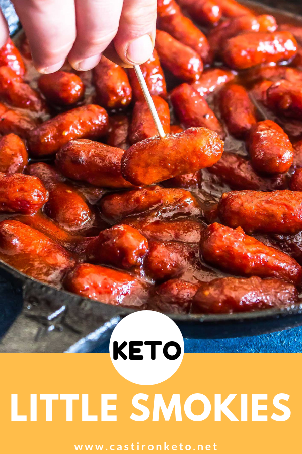 Keto Little Smokies Easy Recipe Cast Iron Keto Recipe Keto Diet Menu Low Carb Holiday Recipes