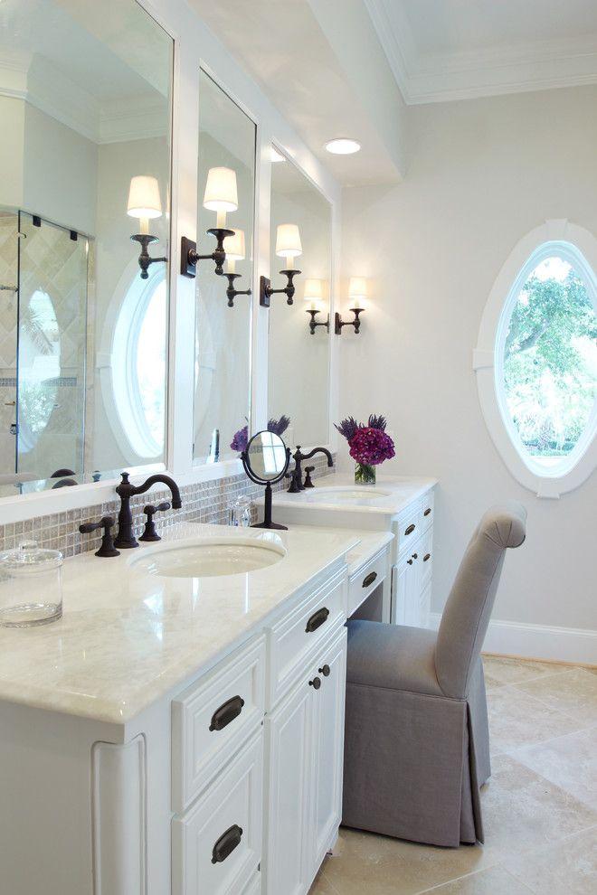 Vanity Chair So I Can Relax While The Kids Bathe Hotel Bathroom Design Bathroom Design Black Traditional Bathroom