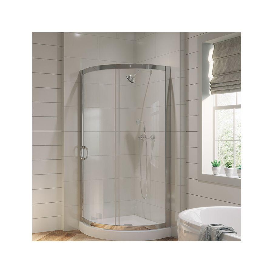 ove decors breeze chrome acrylic floor round 2piece corner shower kit actual