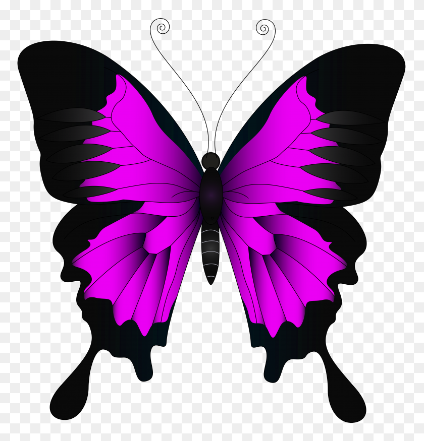 4783x5000 Pink Butterfly Png Clip Art Mariposas Png Butterfly Art Art Images Purple Butterfly
