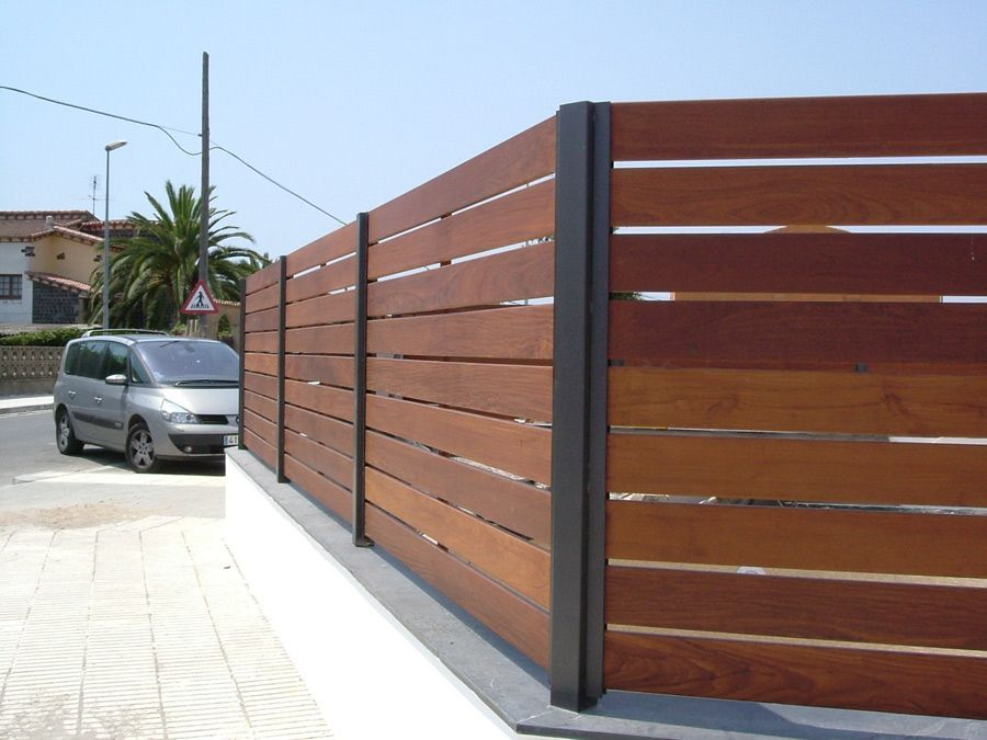Fustmar vallas de madera vallas madera tropical - Tableros de madera para exterior ...
