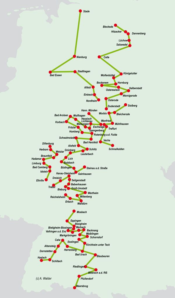Deutsche Fachwerkstrasse Schlauberger Deutsche Landschaft Reisen