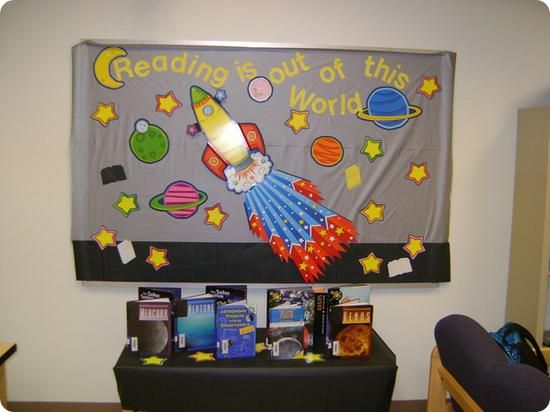 Out Of This World Space Themed Displays Space Theme Classroom Space Classroom Classroom Themes