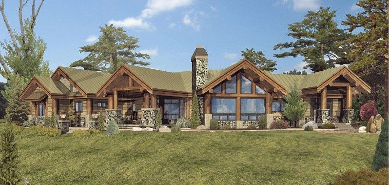 Luxury log cabin home designs home design and style for Ranch home kits for sale
