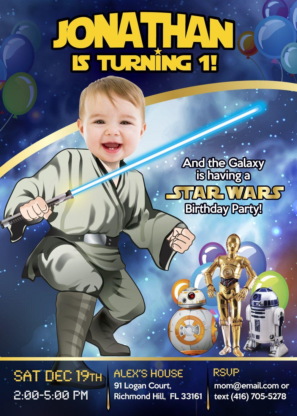 star wars 1st birthday baby jedi