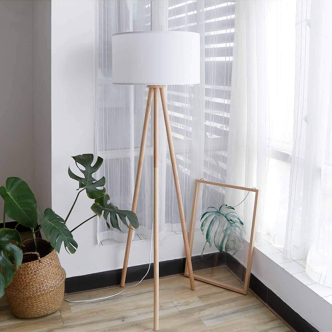 Tomons Stehlampe Stativ Aus Holz Fur Das Wohnzimmer Schlafzimmer