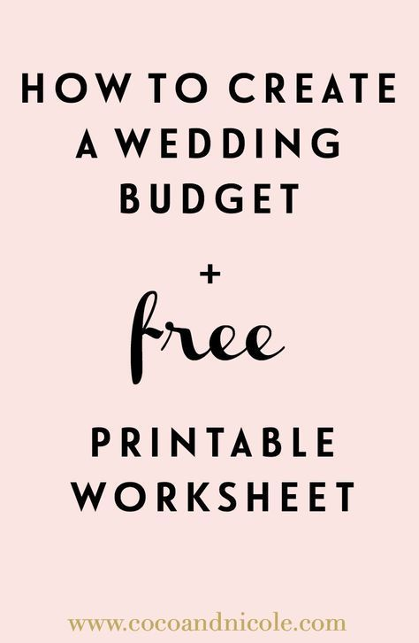 We\u0027ve got tips to help you create your wedding budget and the budget