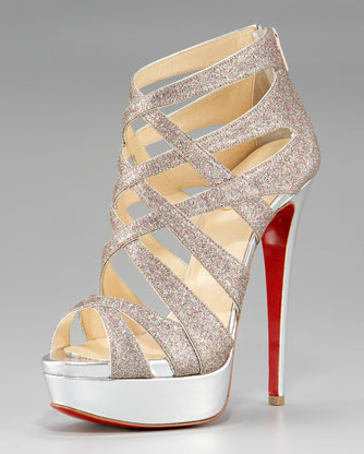 Simli kafes Platform heels! Beautiful.