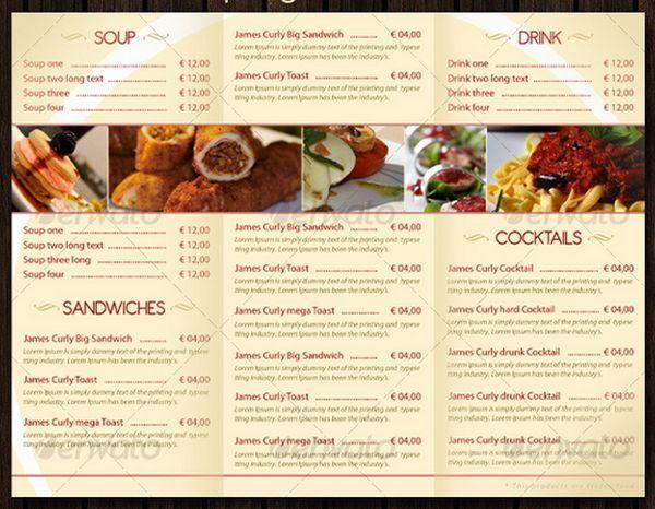 30+ Food Menus Templates for Café and Restaurants Ginva Design - Cafe Menu Template