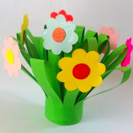 Fabrique un joli bouquet de fleurs en papier le cadeau - Joli bouquet de fleurs ...