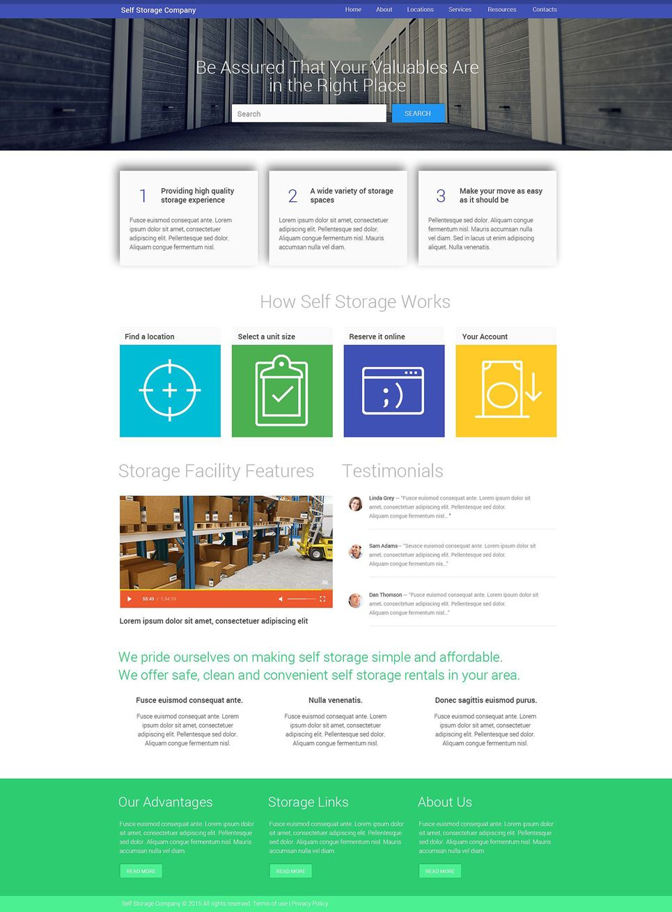 Facility Services Website Template Website Template Templates Website Template Design