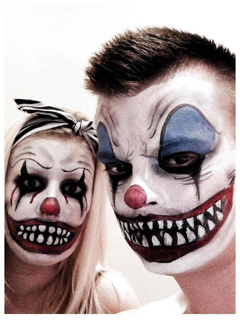 Halloween Cute Halloween Cute In 2020 Scary Clown Makeup Couple Halloween Clown Makeup
