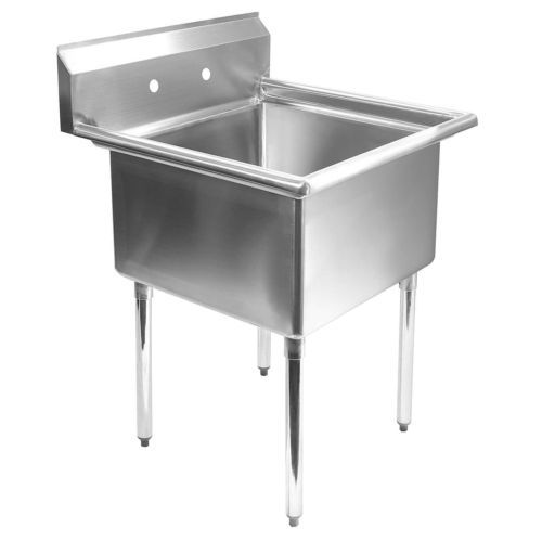 300 Commercial Stainless Steel Kitchen Utility Sink 24