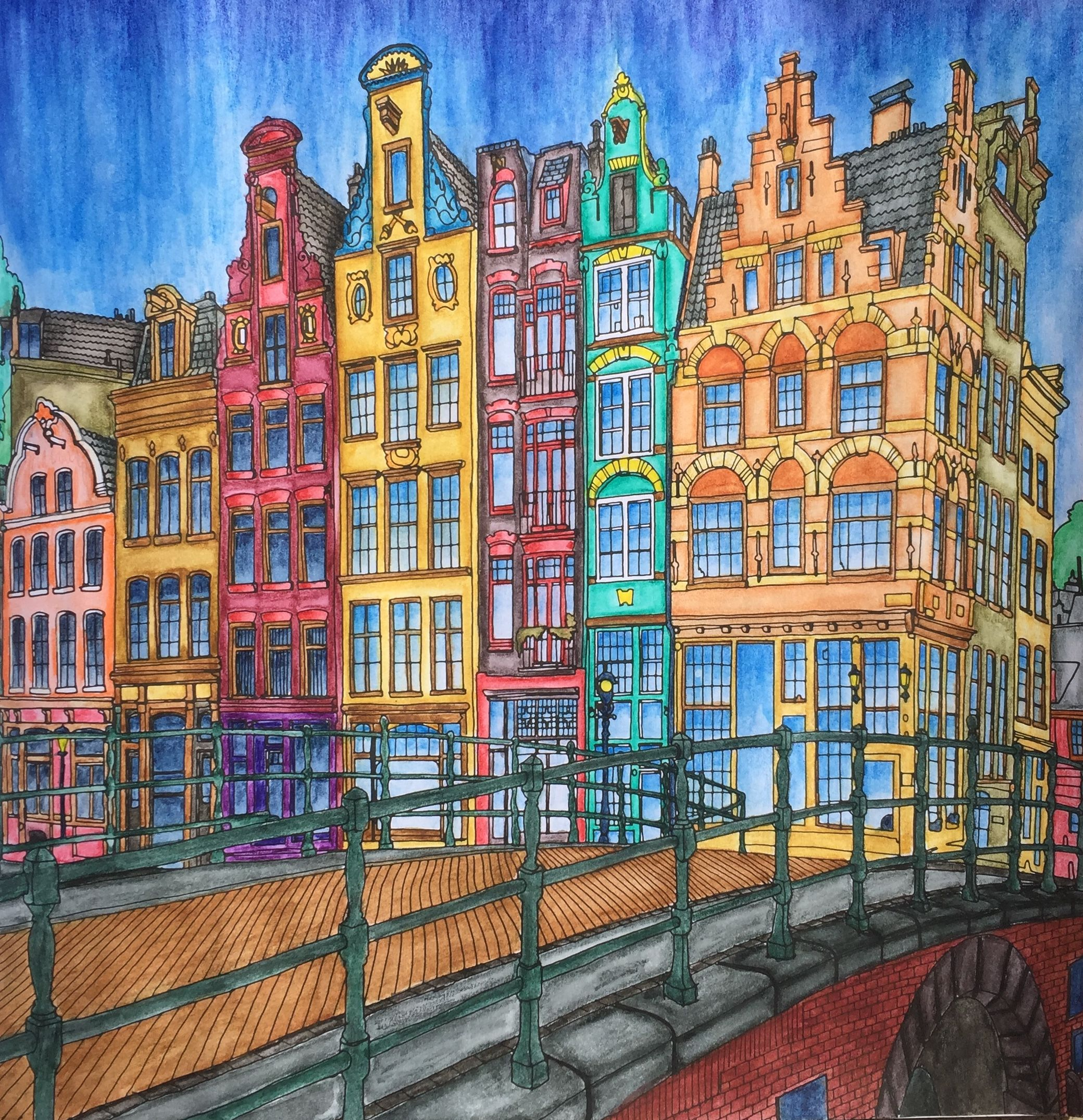 Fantastic Cities Amsterdam Fantastic Cities Coloring Book Pictures To Paint Steve Mcdonald
