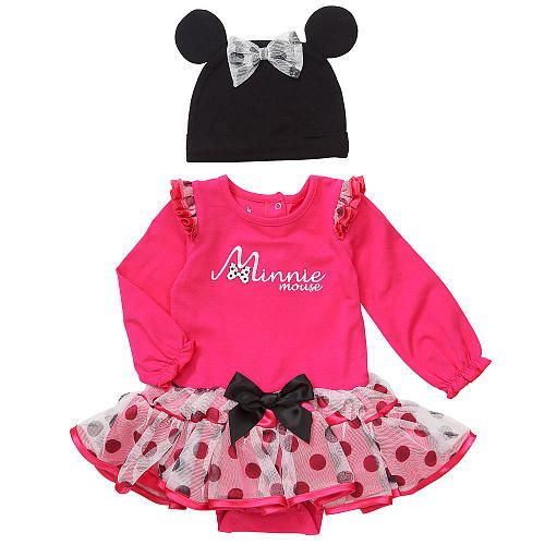 046e0fe1e Baby Clothes: Baby Girl Disney Minnie Mouse Pink Polka Dot Tutu Bodysuit  with Mouse Ears Hat (Adorable!)