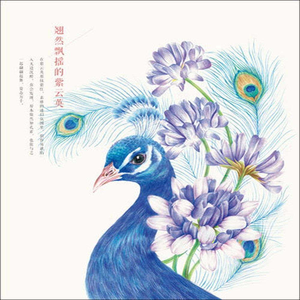 Flowers painted bird color pencil drawing books pencil sketch tutorial hand painted color book illustration 2