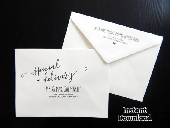Wedding Envelope Template - Printable Envelope Address Template