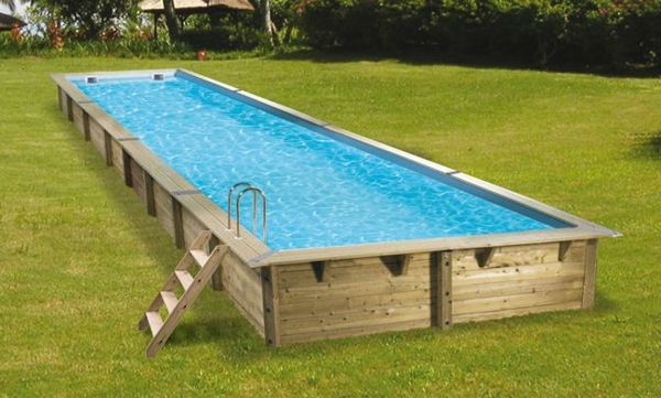 Cerland Urban Houten Zwembad 600 x 250 x 133 Swimming pools, Hot